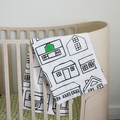 Baby Blanket - with one door or window colored in your color choice.