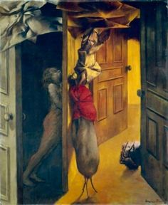 Dorothea Tanning, Intérieur (Interior)  1953  Oil on canvas  18 1/10 x 15 in.