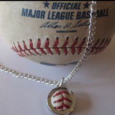 Baseball necklace charm from your special baseball at patty cakes boutique  608-442-4421