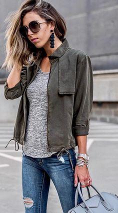 short utility jacket