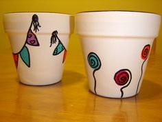 Painted Clay Pots, Painted Flower Pots, Plant Painting, Ceramic Painting, Rock Painting, Clay Pot Crafts, Crafts To Make, Pottery Painting Designs, Paint Designs