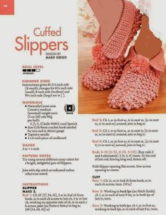 Knit Slippers Free Pattern, Crochet Slipper Pattern, Knitted Slippers, Crochet Slippers, Knit Crochet, Loom Knitting, Knitting Socks, Knitting Stitches, Knitting Patterns Free
