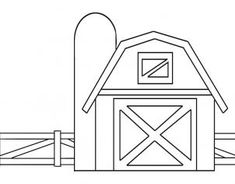 how to draw a barn house and fence step 5
