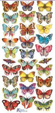 Butterfly Victorian Stickers - Victorian Stickers - Roses And Teacups