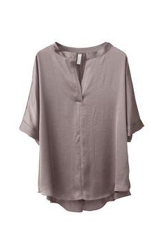 Drape Satin Blouse - polyester 100%