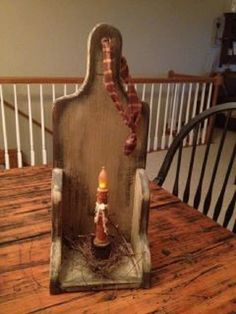 Primitive  Candle Holder by BritRobinson on Etsy, $28.00
