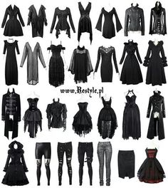 What Are The Best Places To Find Gothic Fashion Accessories? Witch Fashion, Dark Fashion, Gothic Fashion, Steampunk Fashion, Gothic Outfits, Edgy Outfits, Fashion Outfits, Gothic Dress, Fashion Ideas