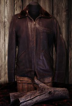 40s Goodgal horsehide/sheepskin Car-coat