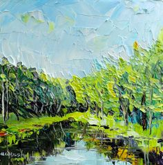 And here's the painting. It's 10x10, $100! The Accidental Artist: Marlborough Pond...