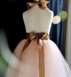 love these colors....Vintage pink with cocoa ribbon adult tutu by TutusChicBoutique, $130.00