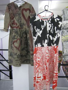 brilliant Melbourne (Australia) label ABYSS started in 1983  - these are some of their first pieces.  1980s textile design and fashion.  Photos from their recent retrospective Galaxy Now.