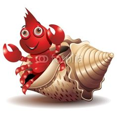 Crab Cartoon, After Prom, Hermit Crabs, Cape May, Moon Child, Artworks, Zodiac, Cancer, Clip Art
