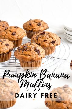 Banana Nutella Muffins, Baked Banana, Best Pumpkin Muffins, Dairy Free Muffins, Cupcake Flavors, Most Delicious Recipe, Breakfast Dessert, Dairy Free Recipes