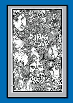 Pink Floyd Ink Art Print by Posterography by Posterography on Etsy, $29.95