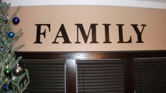 Family Sign Wall Word Wooden Words Decortive Lettering Wall Decor Home Accents USD) by RedRiverValley Wall Letter Decals, Wall Decals, Word Wall Decor, Wooden Words, Family Signs, Wood Letters, Wall Signs, Home Accents, Etsy Shop