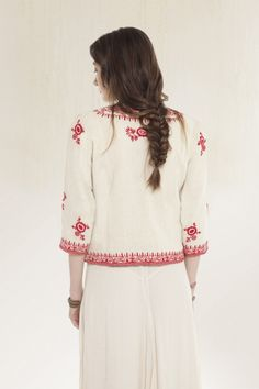 Rapsodia ~ Saco New Rema cotton jacket with floral #embroidery