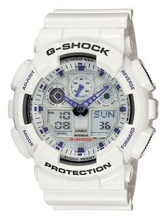 Casio_Men's_GA100A-7_G-Shock_X-Large_Analog-Digital_White_and_Blue_Sports_Watch