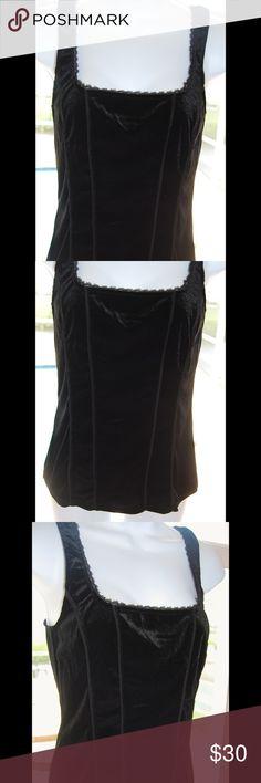 875219ce694 NWOT WHBM Velvet Black Top size S Figure hugging NWOT velvet ribbed corset  style sleeveless top size Small by White House Black Market White House  Black ...
