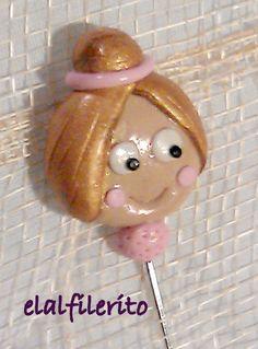 REF: L081  Alfiler BAILARINA  Disponible en todos los colores.   Taponcito del alfiler GRATIS!  www.facebook.com/elalfilerito