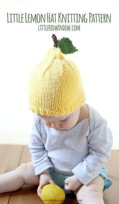 Baby Knitting Patterns Little Lemon Hat Free Knitting Pattern for Babies! | littler...