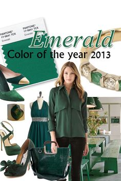 COLOR TREND FOR SPRING 2013 ~ EMERALD GREEN