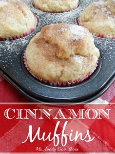 Delicious Cinnamon Muffins  by mstoodygooshoes.blogspot.com #muffins