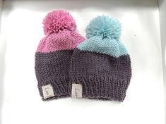 Hand Knit Hats Luv Beanies Boy Hats Girl Hats Stocking