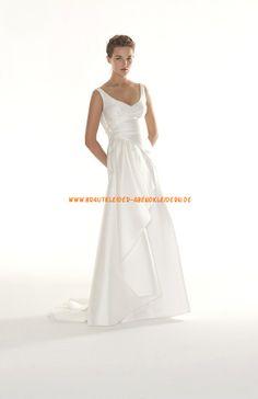 Schlichte Preiswerte Brautkleider 2014 aus Satin