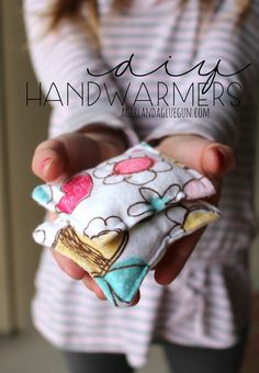 handwarmers!!! perfect for learning how to sew! Pop them in the microwave for 30 seconds and slip in your pockets to keep your hands warm!