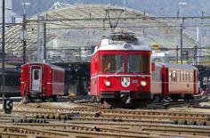 Zwischen Landquart und Chur verkehrt im Schienenverkehr voraussichtlich bis 15 Uhr nur die Rhätische Bahn. (Keystone)