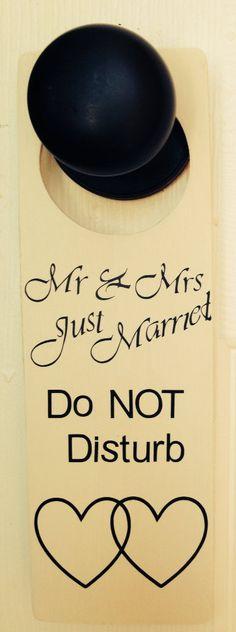 Honeymoon night door hanger on Etsy, $4.99