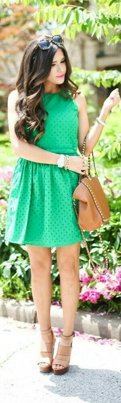 Green Eyelets / Fashion by The Sweetest Thing