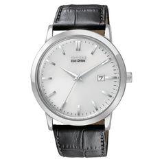 Citizen Men's Stainless Steel Eco-Drive Date Watch - Overstock Shopping - Big Discounts on Citizen Citizen Men's Watches