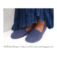 (4) Name: 'Crocheting : HERs DENIM RIBBED LOAFERS