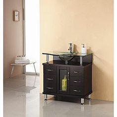 Virtu USA Vincente 32 Inch Single Sink Bathroom Vanity Set By VIRTU USA