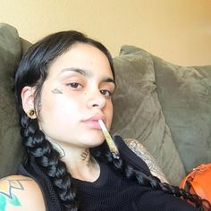 what a cool 4 months it's been without you Mary, but it's so nice to kiss that face again. Weed Girls, 420 Girls, Kehlani Parrish, Look Festival, Gangster Girl, Bad Girl Aesthetic, Stoner Girl, Girl Smoking, Celebs