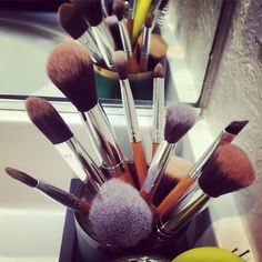 How I Clean My #MakeupBrushes
