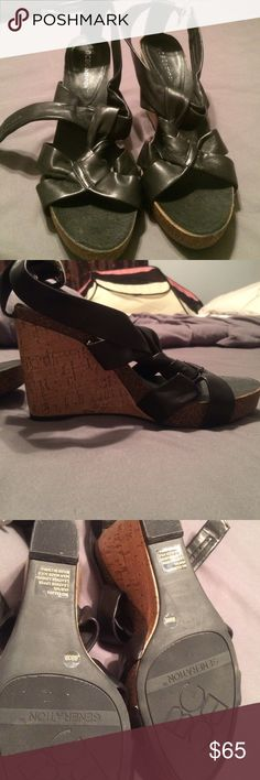 BCBGeneration wedges Worn maybe once, excellent condition BCBGeneration Shoes Wedges