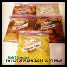 Pearls & Mason Jars: Favorite Marinades for Freezer Meals