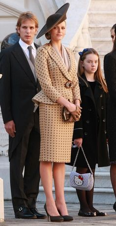 Charlene Wittstock..what do you think of the 40s style outfit? I like it.