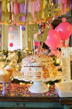 3 Ladies and Their Gent: Parker & Jolie's 2nd Birthday | Pancakes and Pajamas - pancake cake