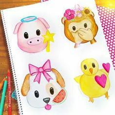 Amazing Drawings, Realistic Drawings, Beautiful Drawings, Easy Drawings, Emoji Drawings, Cute Kawaii Drawings, Disney Drawings, Smileys, Social Media Art