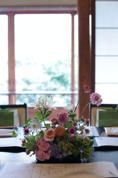 初夏の装花 浅草茶寮一松様へ 風が通るように : 一会 ウエディングの花