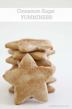 these glazed cookies are not only topped with cinnamon and sugar, but the cookie themselves have a delicious cinnamon flavor. easy cut out cookies Cookie Glaze, Cinnamon Sugar Cookies, Top With Cinnamon, Cut Out Cookies, Cookie Exchange, Biscotti, Macarons, Cooking Recipes, Sweets