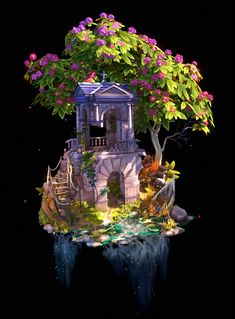 How to Create a Diorama With Just Colors? 3d Fantasy, Fantasy Landscape, Relaxing Art, Isometric Art, Environment Concept Art, Game Environment, Game Concept Art, Environmental Art, Game Design