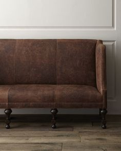 """Wiley"" Leather Sofa by Old Hickory Tannery at Horchow."