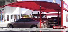 toldo curvo vantilever en mallasomra, ideal para agencias, concesionarios, estacionamientos #mallasombra, #tensoestructuras #eclipsecubiertas #esclipsecubiertas.com