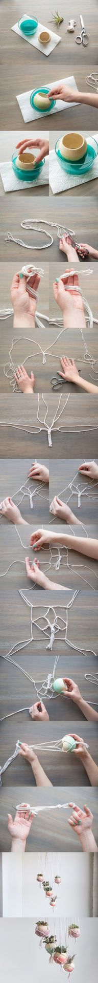 Such a wonderful tutorial on how to make macramé pot holders.