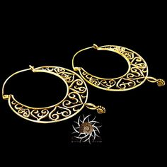 Brass Earrings - Brass Hoops - Ethnic Hoops - Gypsy Hoops - Ethnic Earrings - Heart Earrings - Brass Jewelry - Ethnic Jewelry  A beautiful brass hoop earrings.  nickle free.  Length: 7cm 0.9mm wire.  Sold as pair only! $30