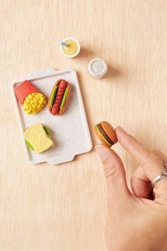 Erasers that look like lunch.